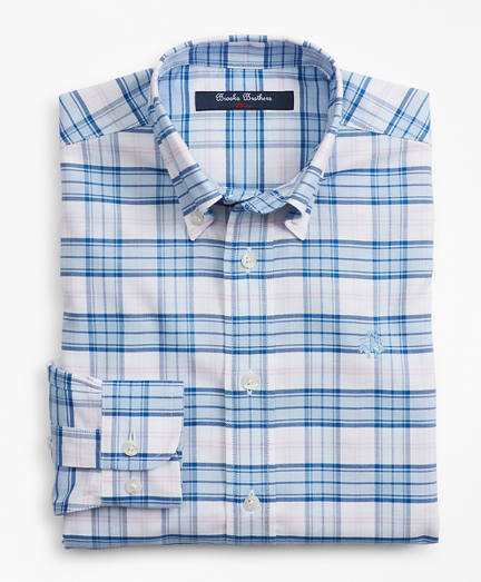 Boys Non-Iron Oxford Picnic Check Sport Shirt