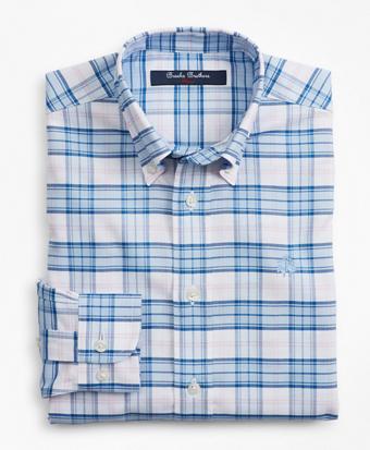 Boys Non-Iron Oxford Picnic Check Sport Shirt