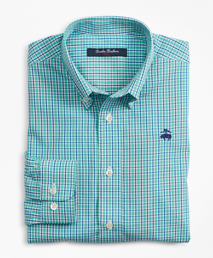 Boys Cotton Mini Check Sport Shirt