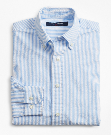 Boys Seersucker Stripe Sport Shirt