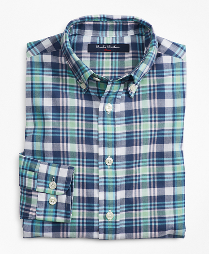 Boys Cotton Madras Sport Shirt