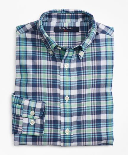 Boys Cotton Madras Sport Shirt