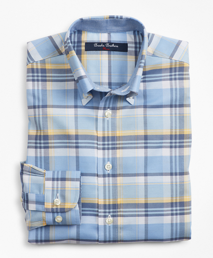 Boys Non-Iron Supima® Cotton Plaid Sport Shirt