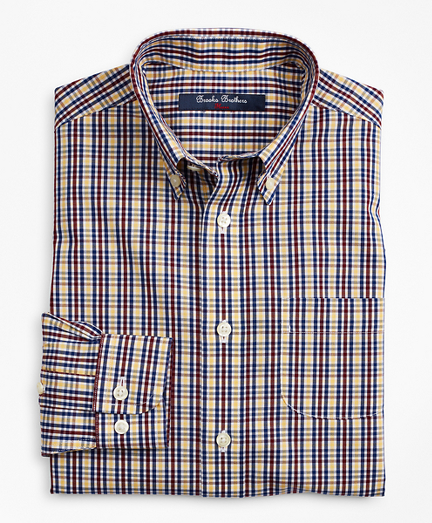 Boys Non-Iron Multi-Check Sport Shirt