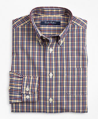 Boys Non-Iron Multi-Check Sport Shirt
