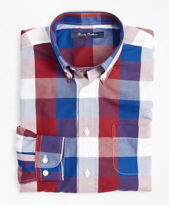 Boys Non-Iron Bold Check Sport Shirt
