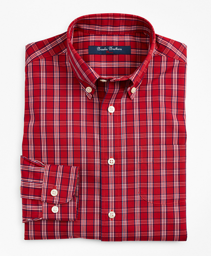 Boys Non-Iron Small Check Sport Shirt
