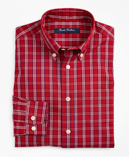 Boys Non-Iron Small Check Sport Shirt