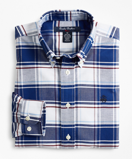 Boys Non-Iron Oxford Bold Check Sport Shirt