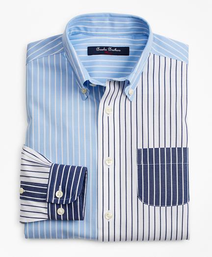 Boys Non-Iron Fun Stripe Sport Shirt