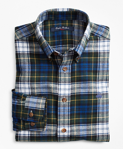 Brooksbrothers Boys Black Dress Gordon Flannel Sport Shirt