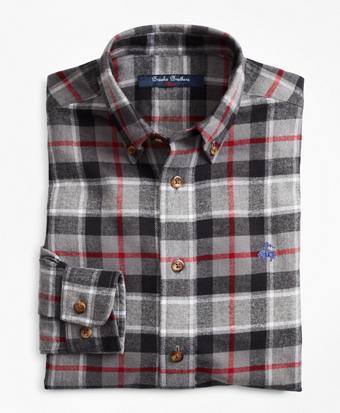 Boys Holiday Plaid Flannel Sport Shirt