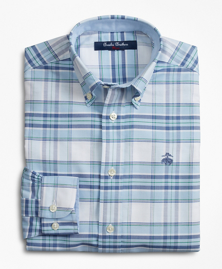 Boys Non-Iron Plaid Sport Shirt