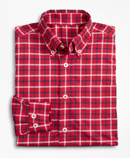 Boys Performance Series Multi-Gingham Sport Shirt