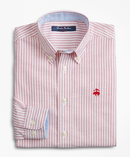 Boys Non-Iron Cotton Oxford Stripe Sport Shirt