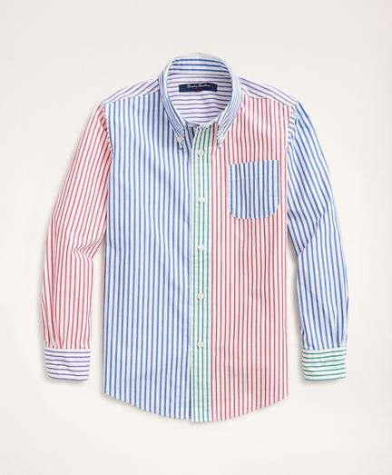 Boys Fun Bengal Stripe Broadcloth Sport Shirt