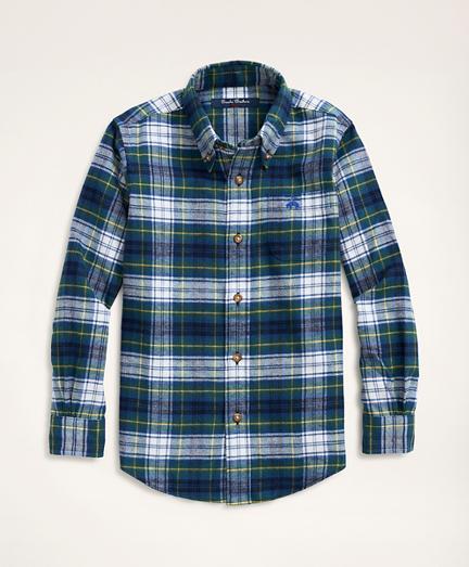 Boys Plaid Flannel Sport Shirt