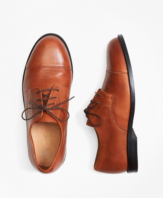 ff647b6cb0f1c Boys  Cognac Captoe Lace-Up Shoes