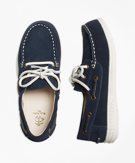 Boys Leather Boat Shoes