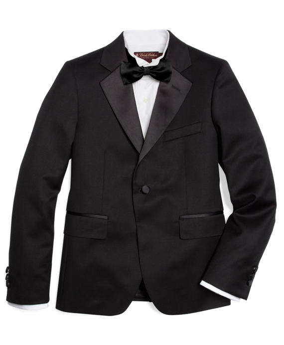 Boys One-Button Tuxedo Junior Jacket Black