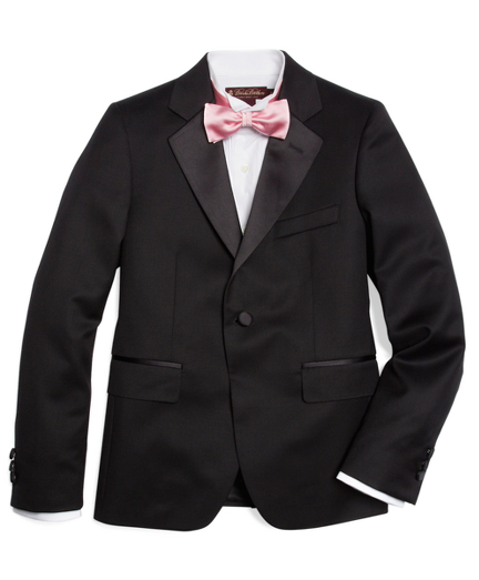 Boys One-Button Tuxedo Prep Jacket