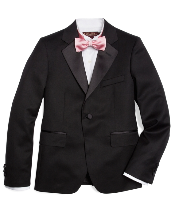 Boys One-Button Tuxedo Prep Jacket Black