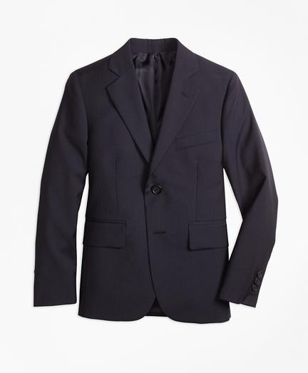 Boys Two-Button Wool Pinstripe Jacket
