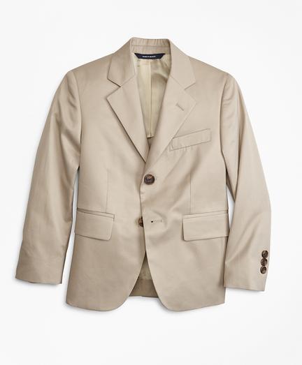 Boys Two-Button Cotton Poplin Prep Jacket