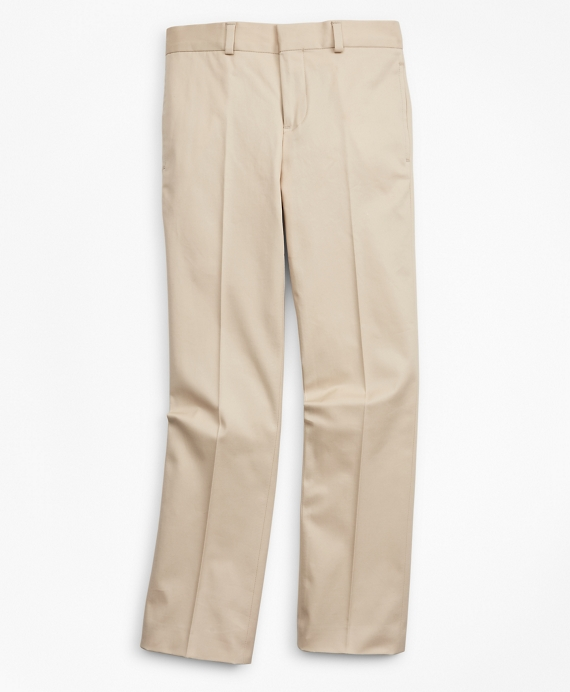 Boys Cotton Twill Suit Pants Khaki