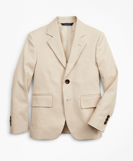 Boys Cotton Twill Two-Button Suit Jacket