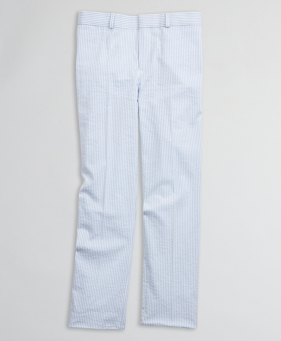 Boys Seersucker Suit Pants Blue