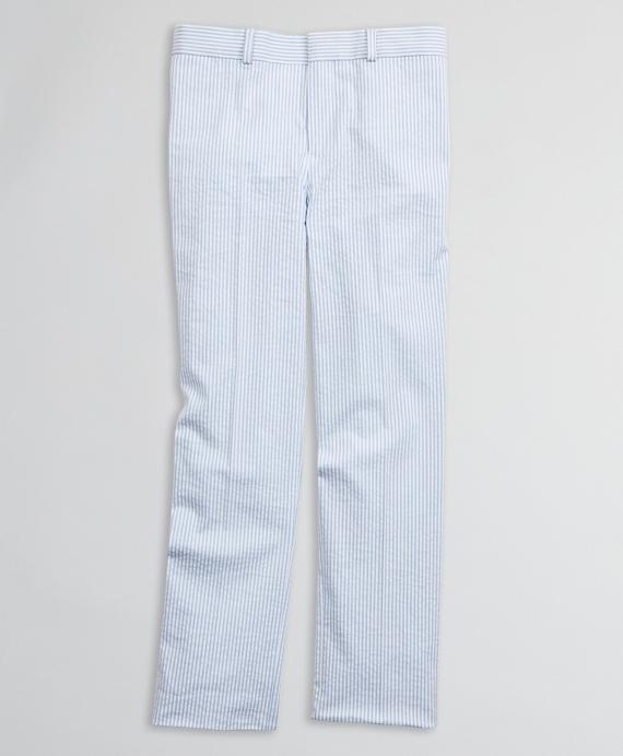 Boys Seersucker Suit Pants Blue
