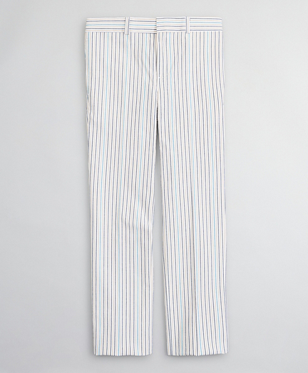 Boys Seersucker Multi-Stripe Suit Pants