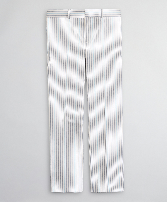 Boys Seersucker Multi-Stripe Suit Pants Multi