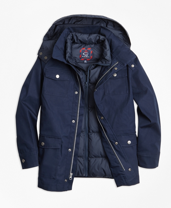 Boys Two in One Anorak Navy