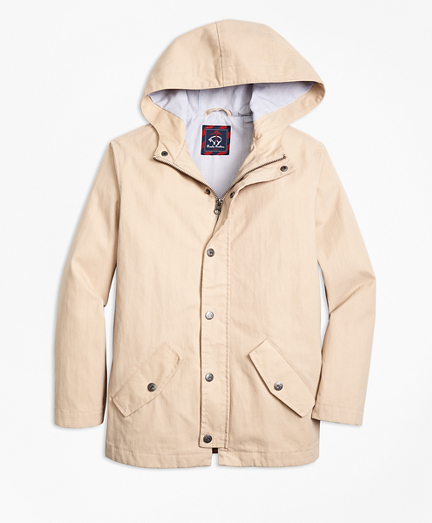 Boys Cotton Hooded Parka