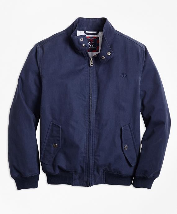 Boys Cotton Bomber Jacket Navy