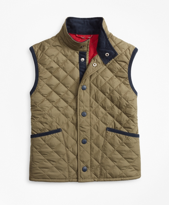 Boys Quilted Vest Ivy Green