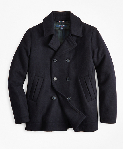 Boys Melton Double-Breasted Pea Coat