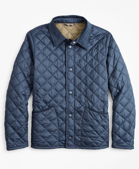 Boys Quilted Jacket Navy