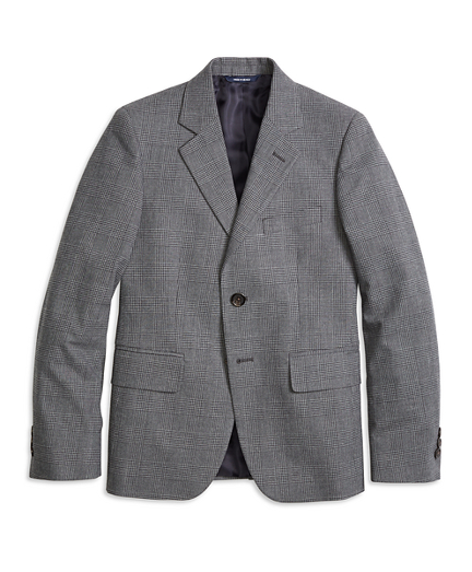 Boys Two-Button Houndstooth Suit Jacket