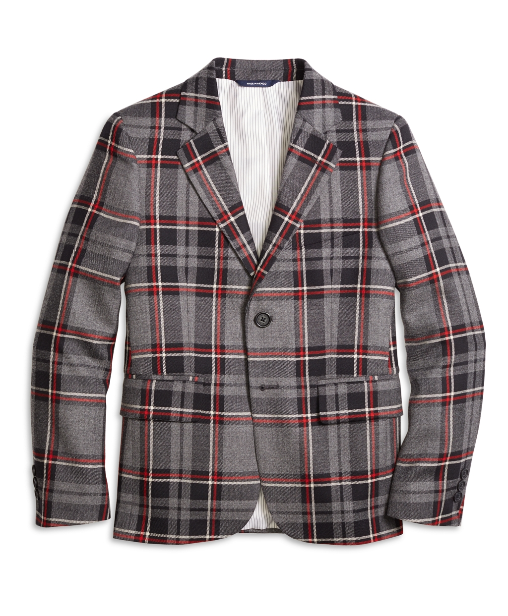 Victorian Kids Costumes & Shoes- Girls, Boys, Baby, Toddler Brooks Brothers Boys Boys Two-Button Plaid Wool Suit Jacket $91.20 AT vintagedancer.com