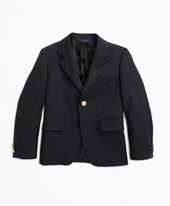 Boys Two-Button Wool Blazer Navy