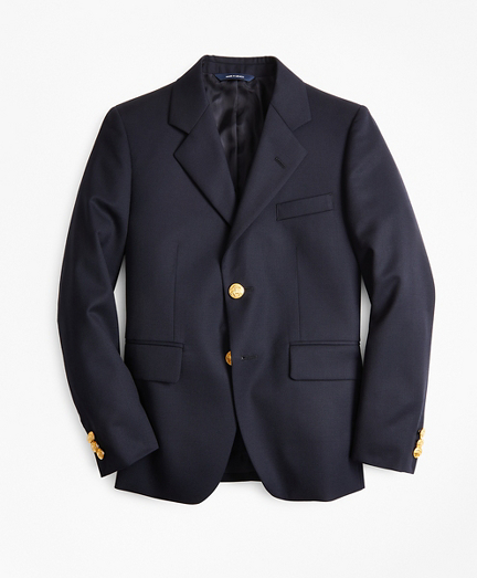 Boys Two-Button Wool Blazer