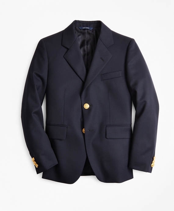 Boys Two-Button Wool Blazer Navy