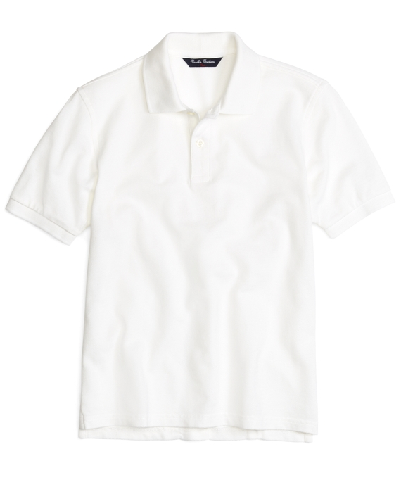 Boys Short-Sleeve Pique Polo Shirt White