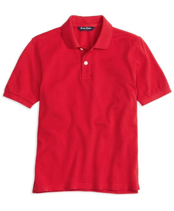Boys Short-Sleeve Pique Polo Shirt Red