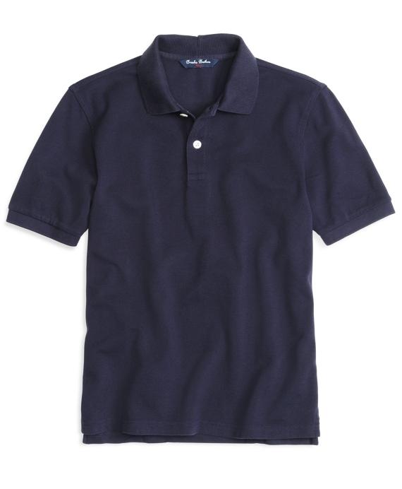 Boys Short-Sleeve Pique Polo Shirt Navy