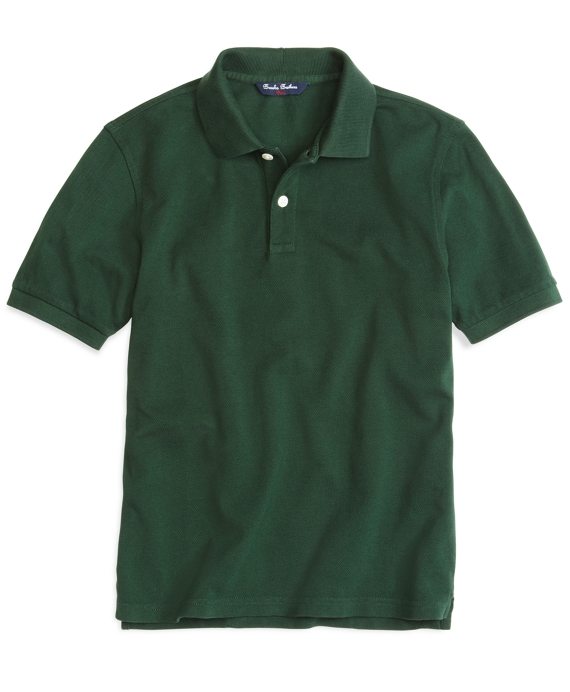 Boys Short-Sleeve Pique Polo Shirt Hunter Green
