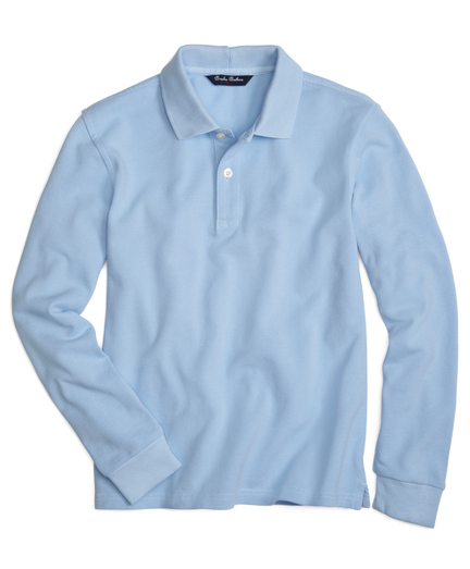 Boys Long-Sleeve Pique Polo Shirt